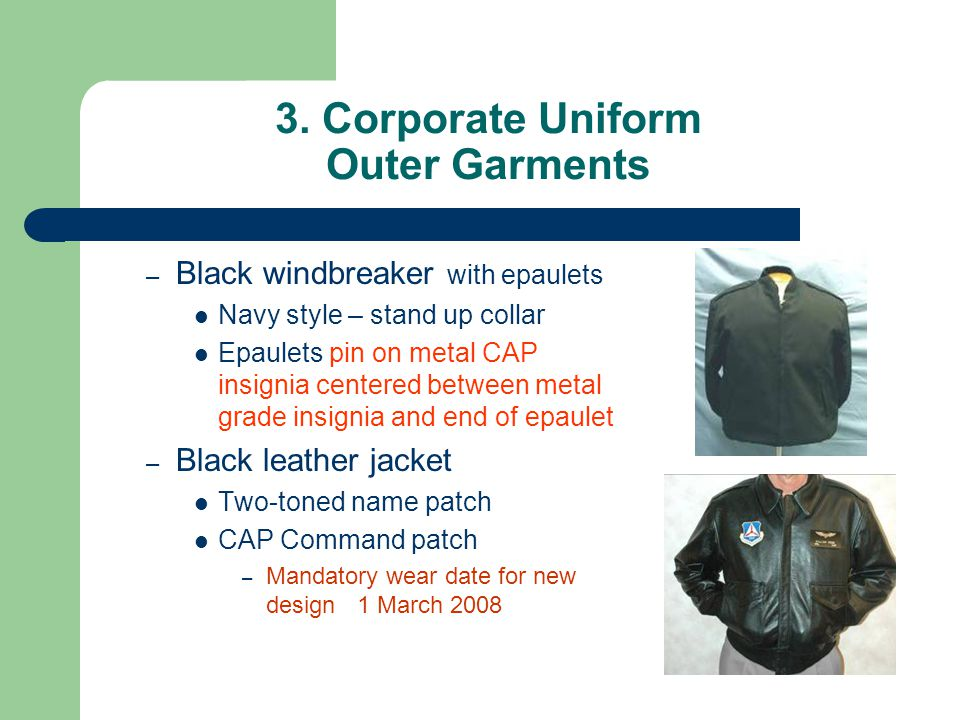 3. Corporate Uniform Outer Garments