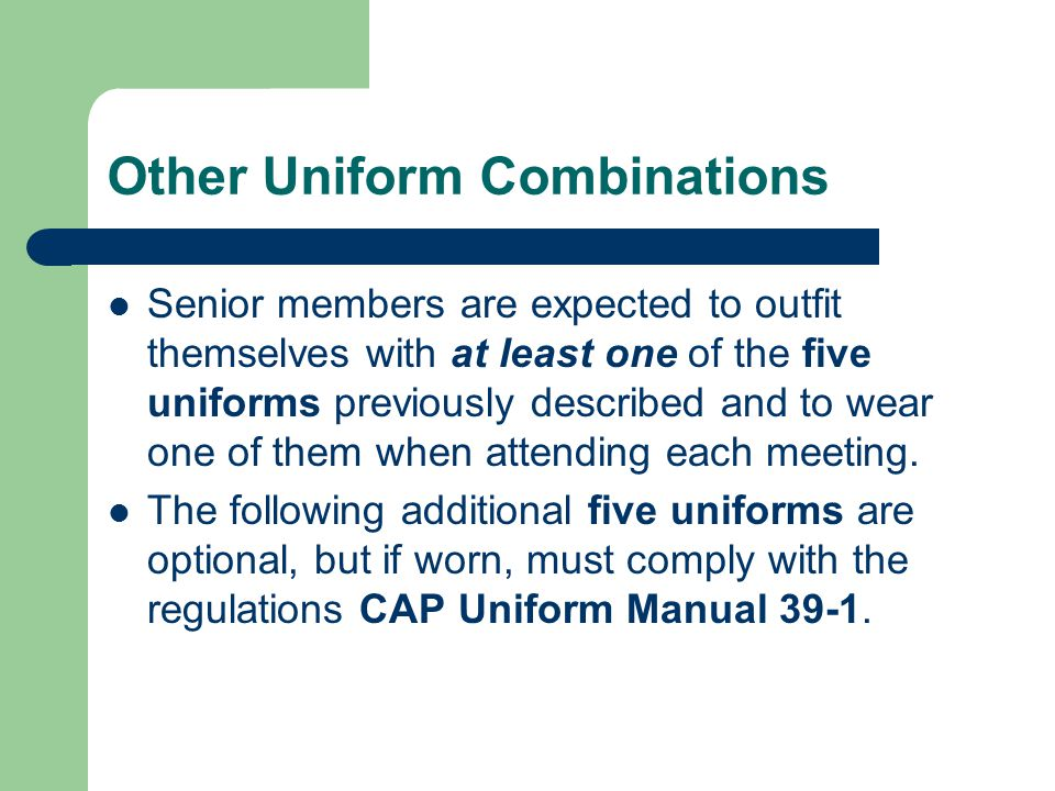 Other Uniform Combinations