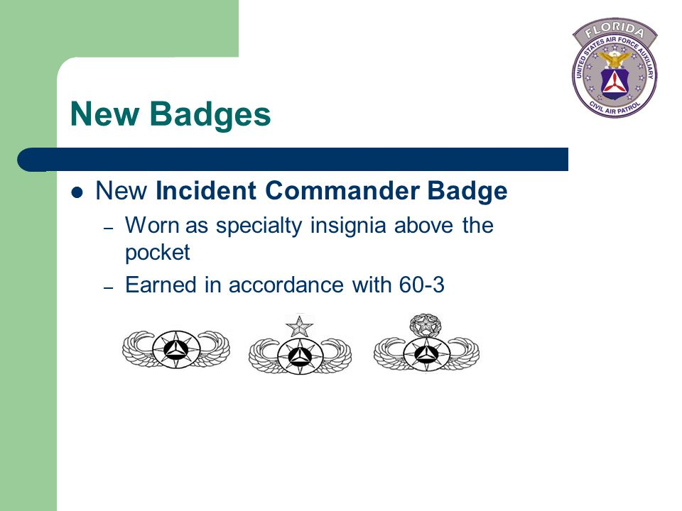 New Badges New Incident Commander Badge