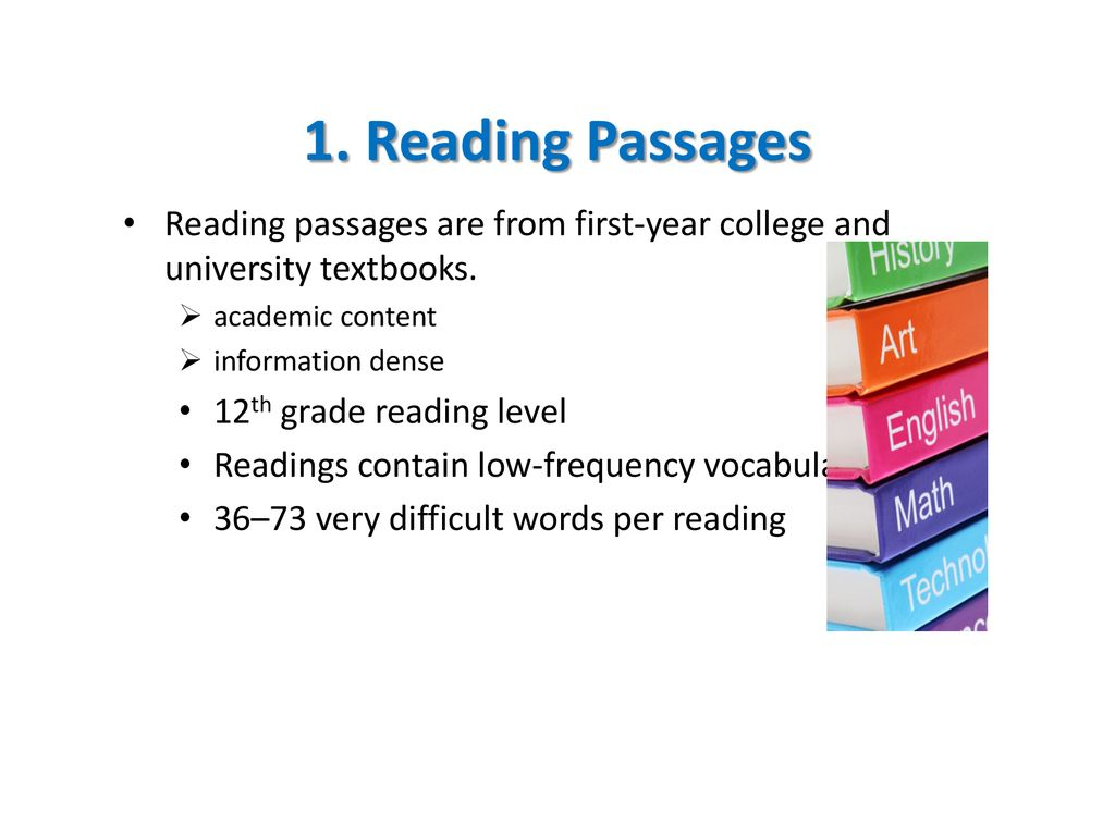 TOEFL Reading Overview - ppt download