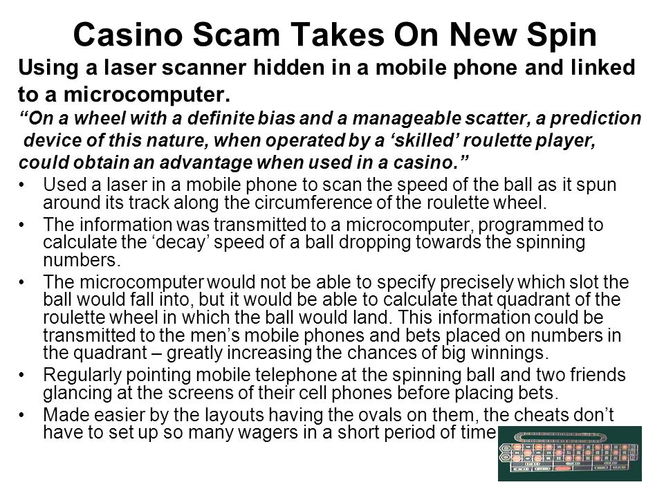 Casino Scam Takes On New Spin
