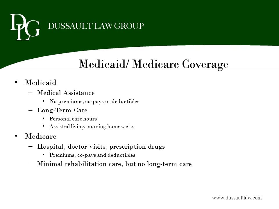 Medicaid/ Medicare Coverage