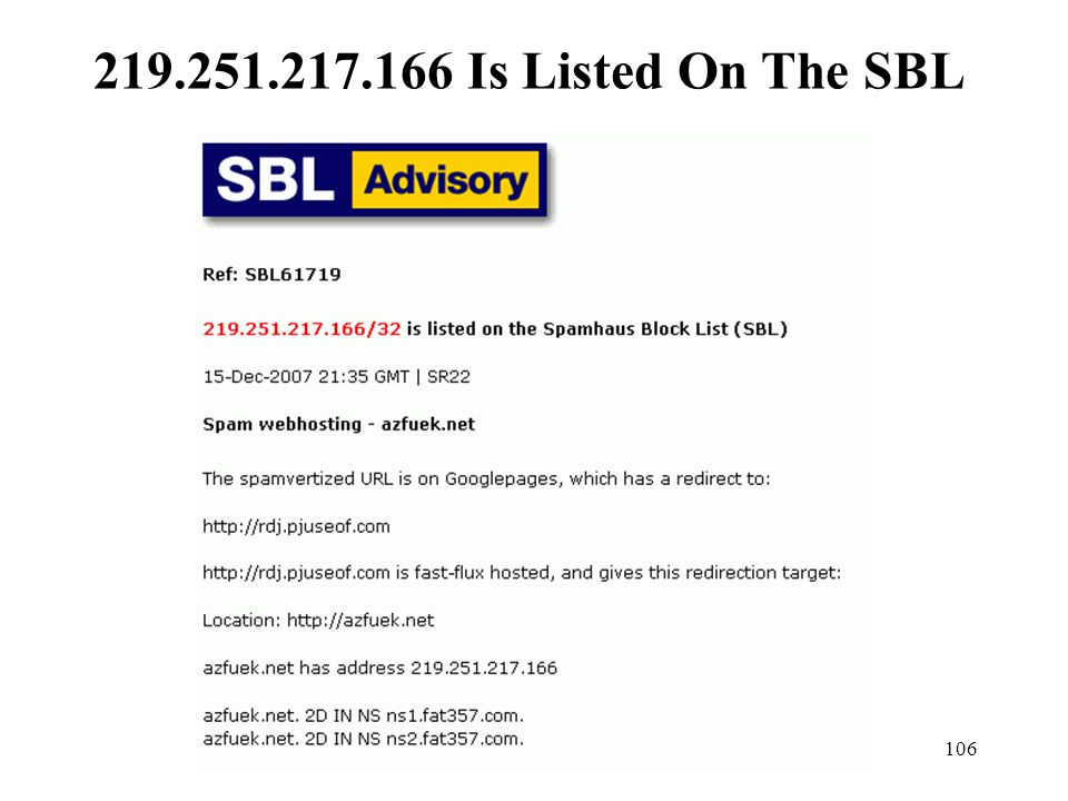 219.251.217.166 Is Listed On The SBL