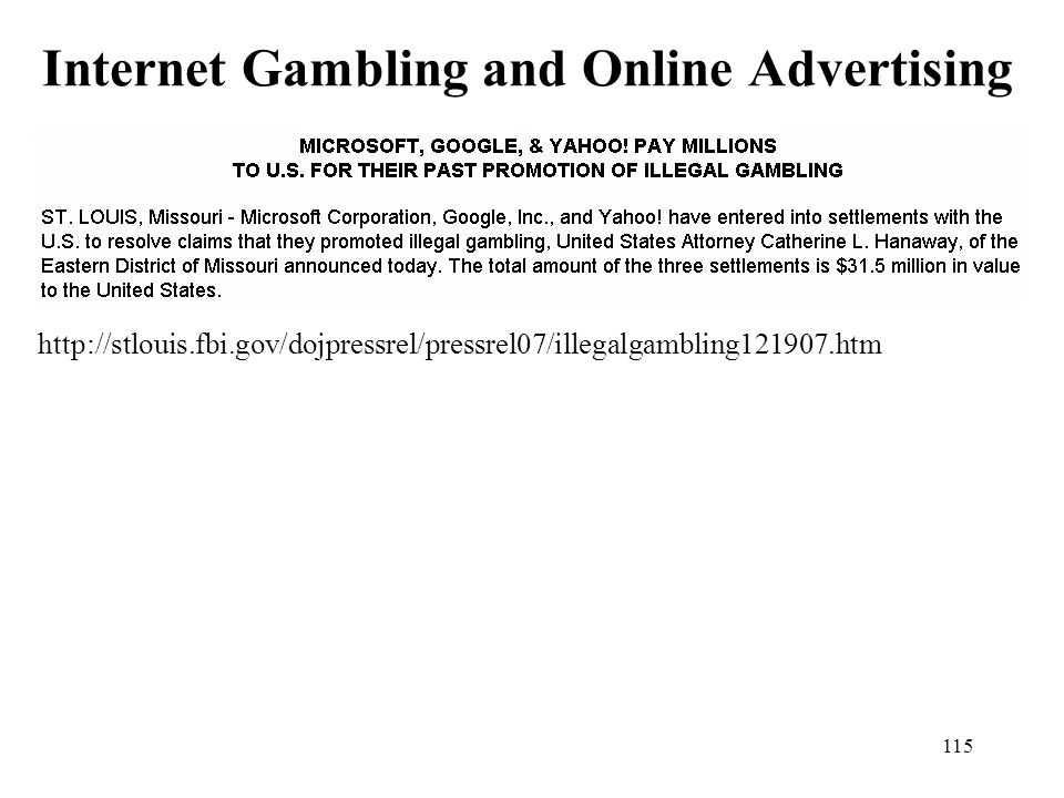 Internet Gambling and Online Advertising