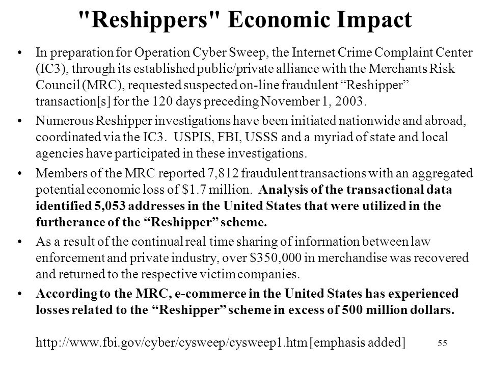 Reshippers Economic Impact