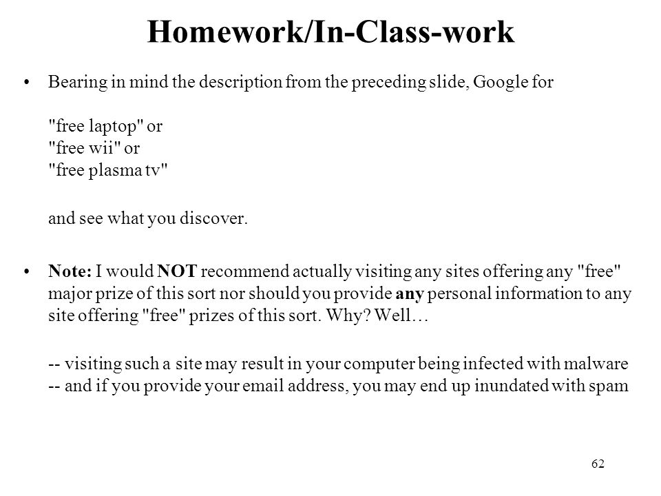 Homework/In-Class-work