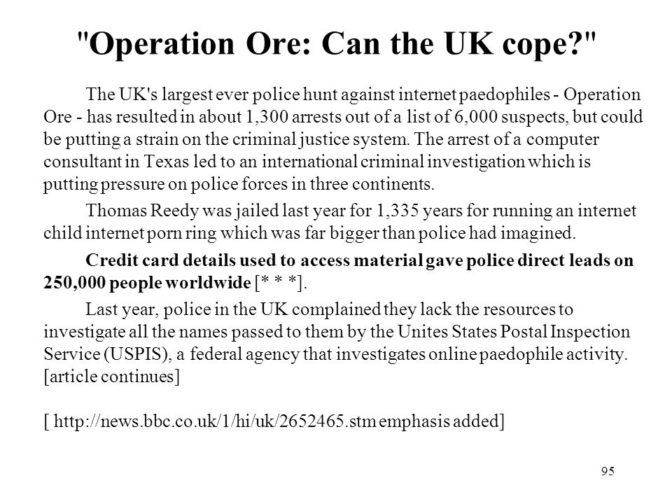 Operation Ore: Can the UK cope