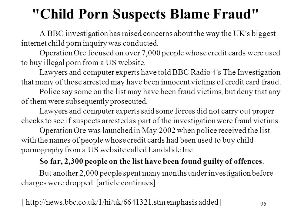 Child Porn Suspects Blame Fraud