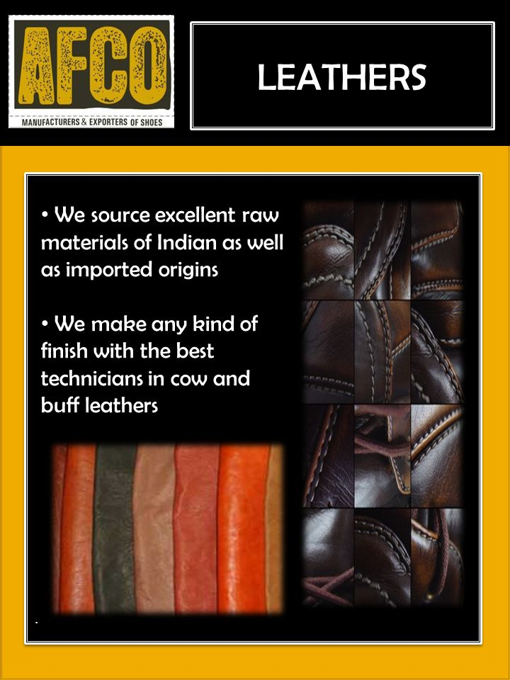 UPPER PRODUCTION LEATHERS