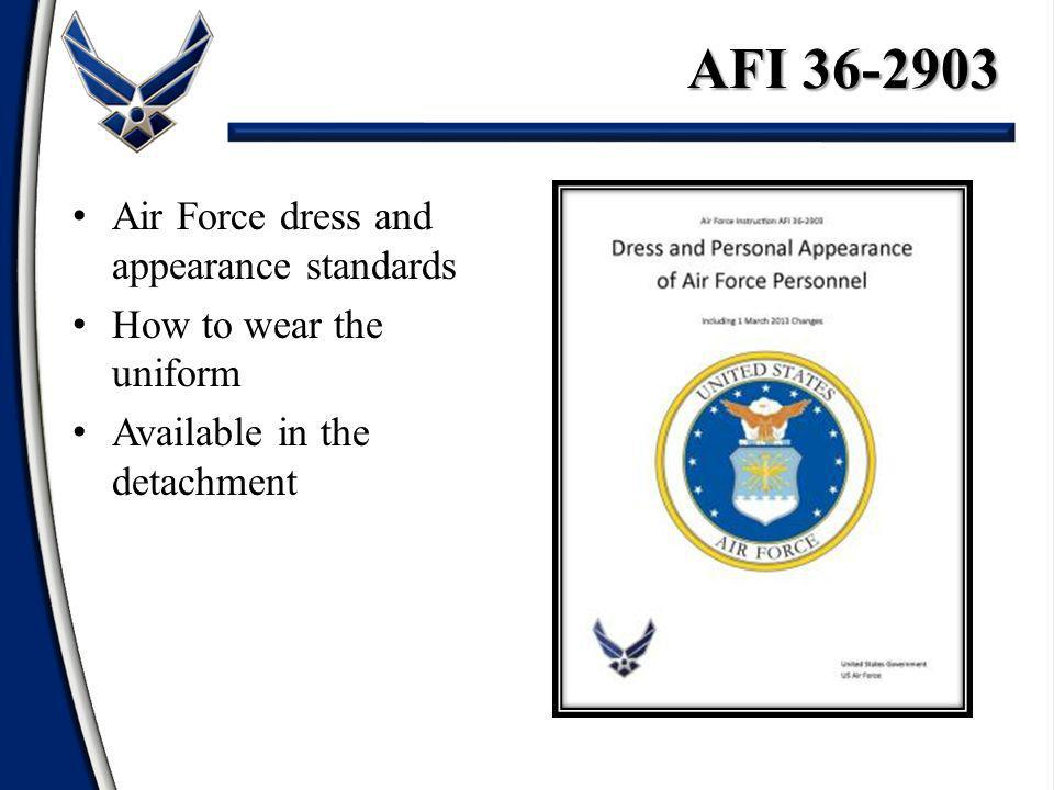 AFI 36-2903 Air Force dress and appearance standards