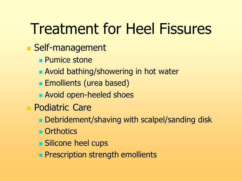 Treatment for Heel Fissures