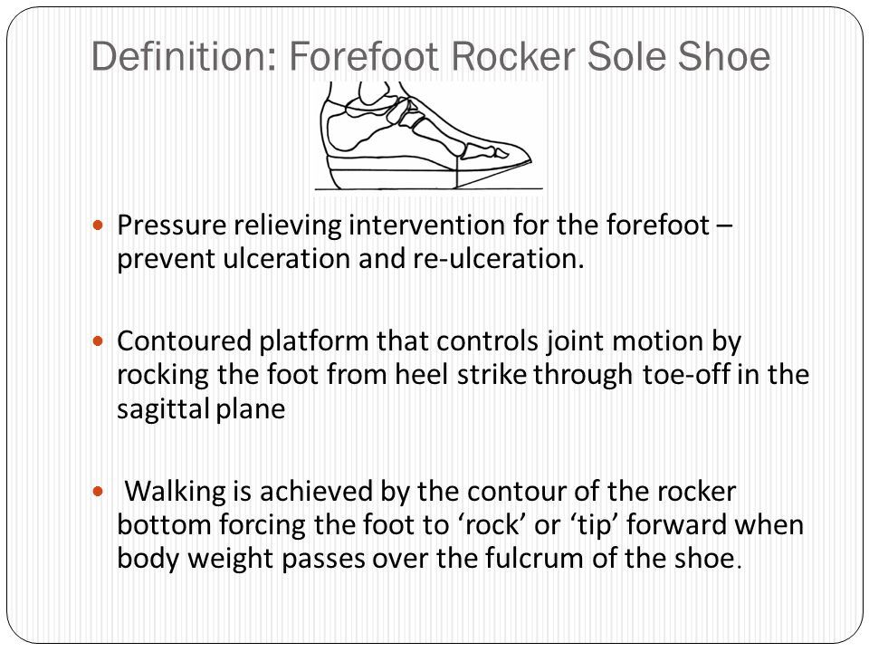 Definition Forefoot Rocker Sole Shoe