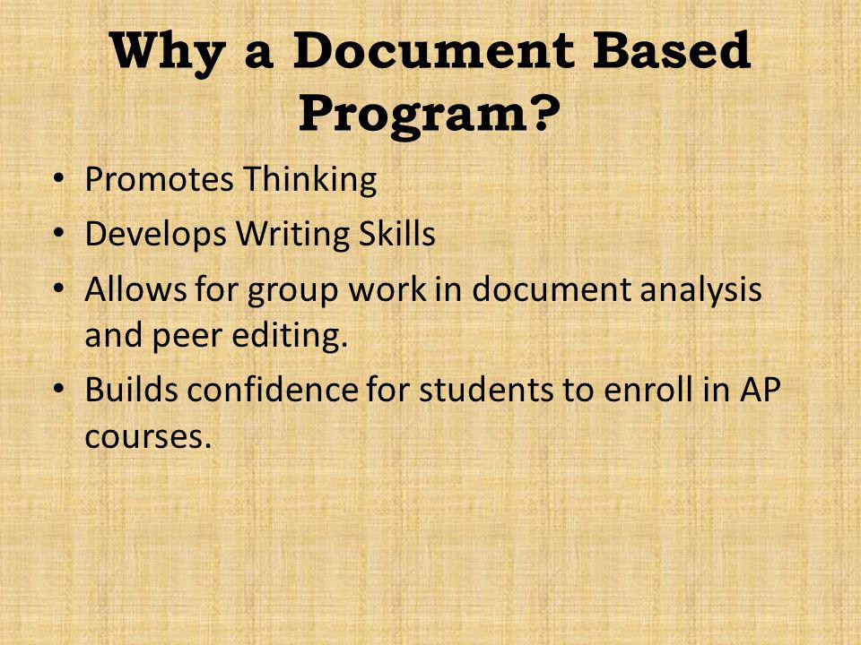 Why a Document Based Program