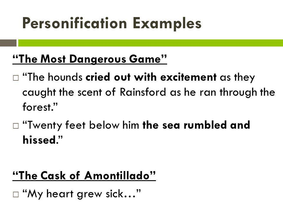 Examples Of Personification In The Most Dangerous Game Images
