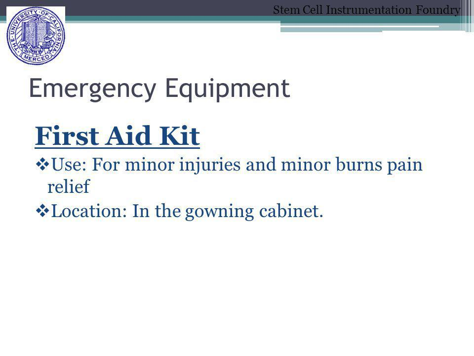 Emergency Equipment First Aid Kit
