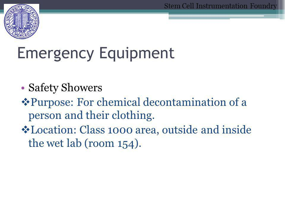 Emergency Equipment Safety Showers