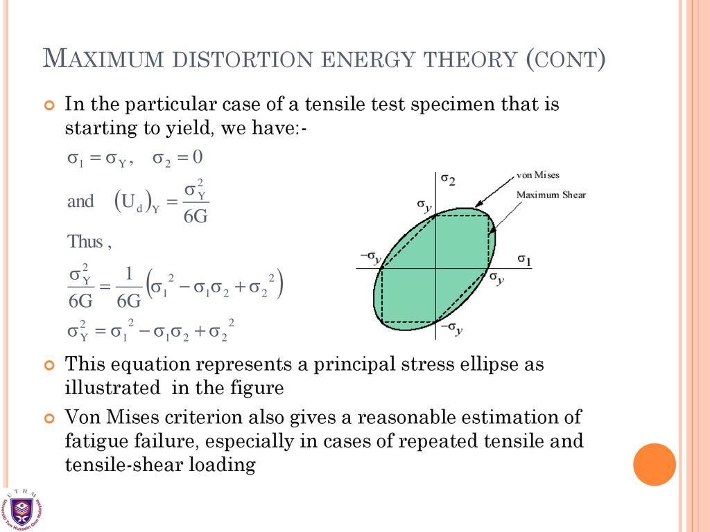 Maximum Distortion Energy Theory Xcel Energy Center