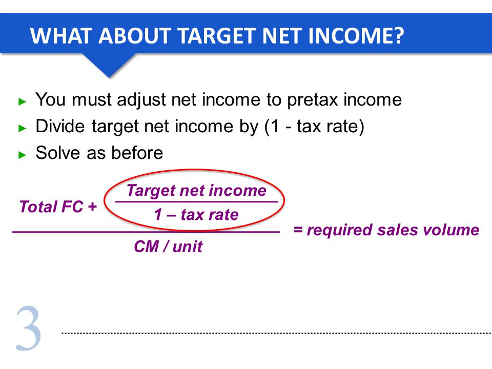 WHAT ABOUT TARGET NET INCOME