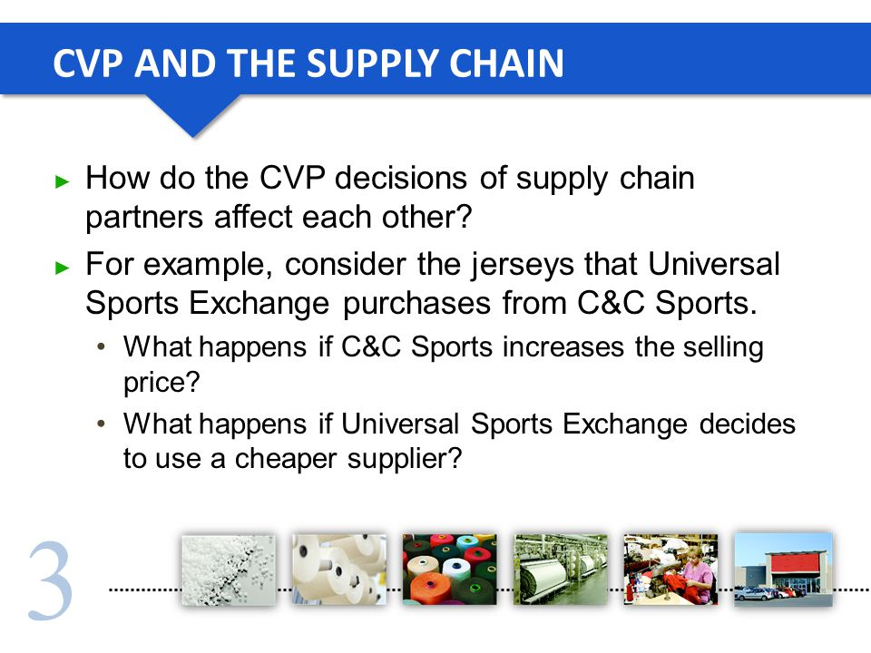 CVP AND THE SUPPLY CHAIN