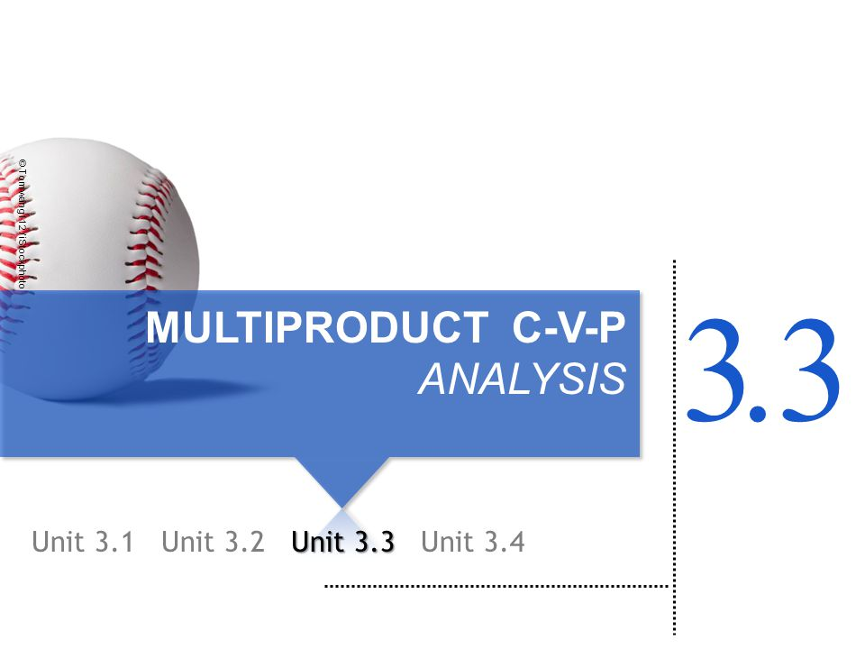 MULTIPRODUCT C-V-P ANALYSIS