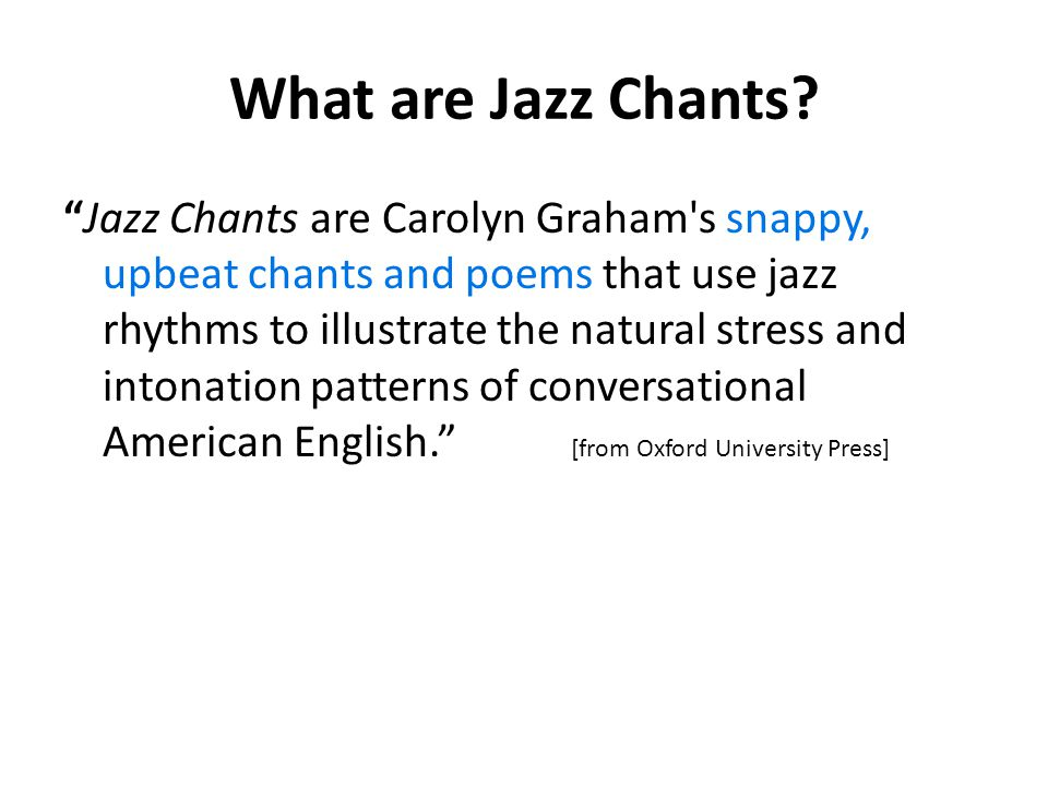 What are Jazz Chants