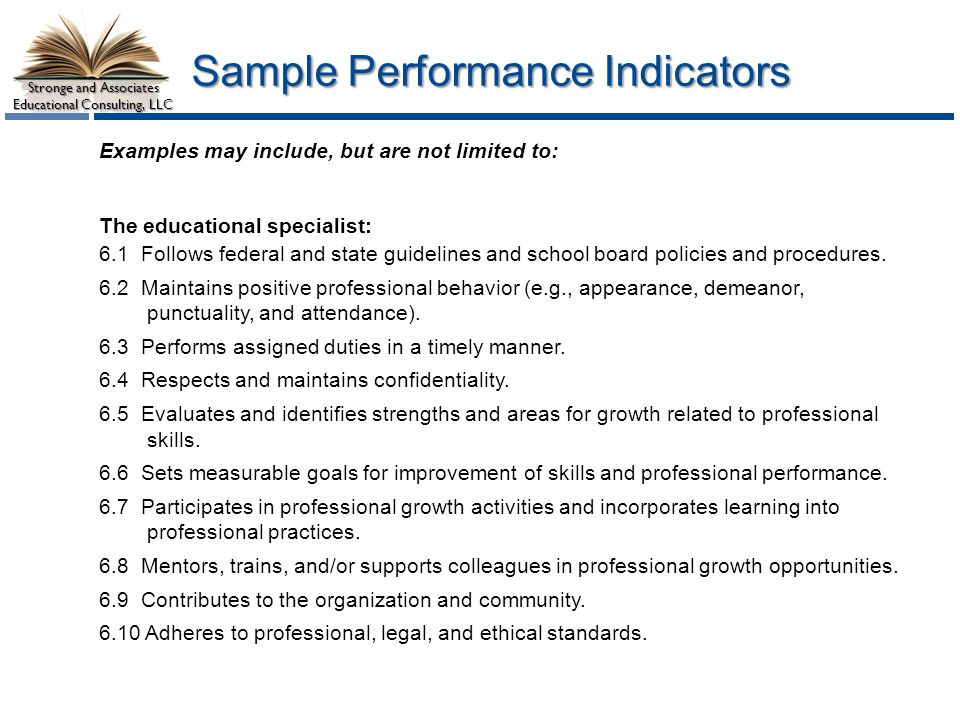 Sample Performance Indicators