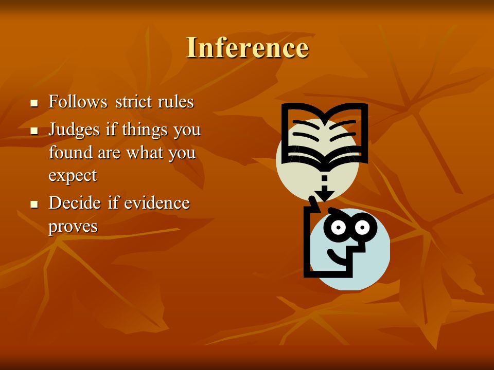 Inference Follows strict rules