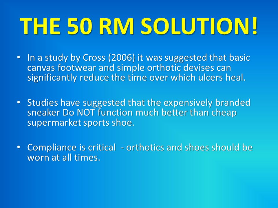 THE 50 RM SOLUTION!
