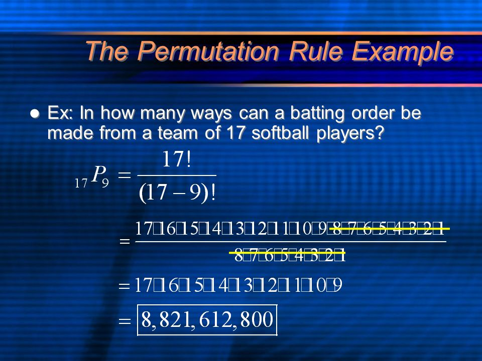 The Permutation Rule Example