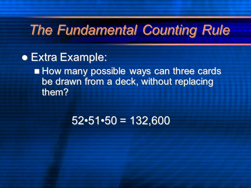The Fundamental Counting Rule