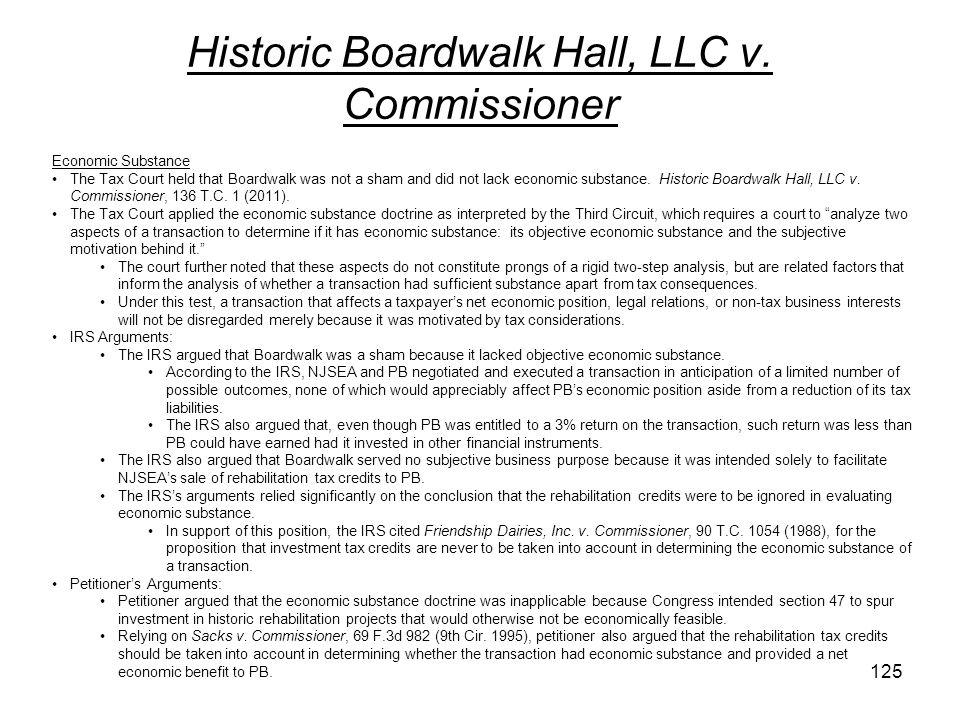 Historic Boardwalk Hall, LLC v. Commissioner