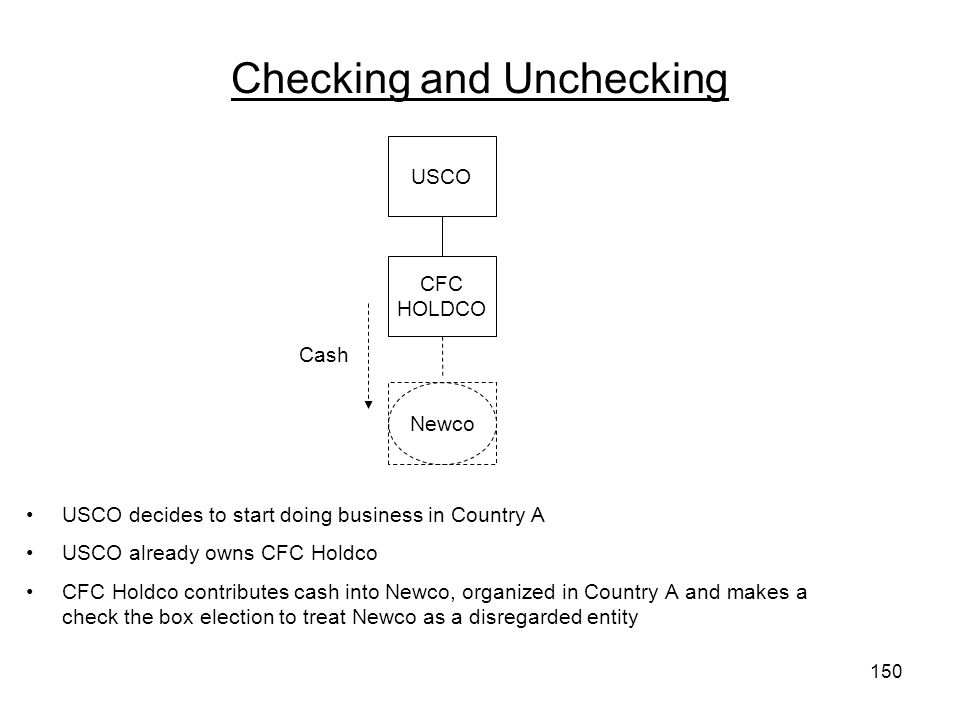 Checking and Unchecking