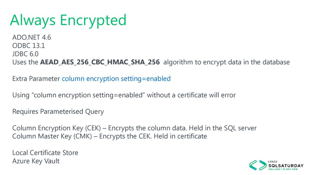 New Security Features in SQL Server ppt download