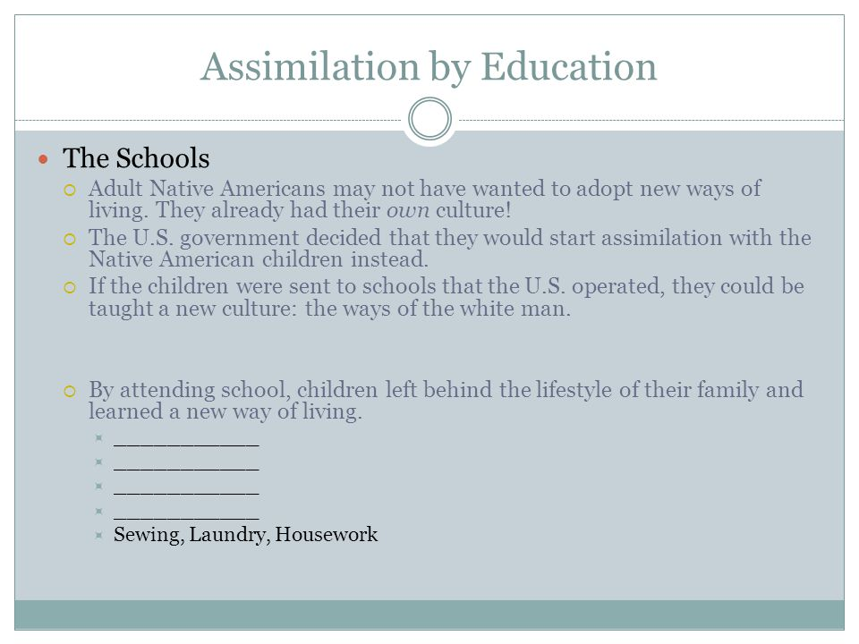 Assimilation by Education