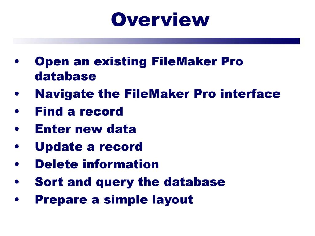 Getting Started with FileMaker Pro - ppt download