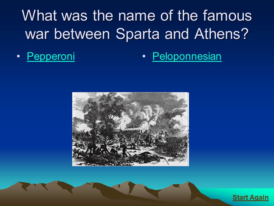 What was the name of the famous war between Sparta and Athens