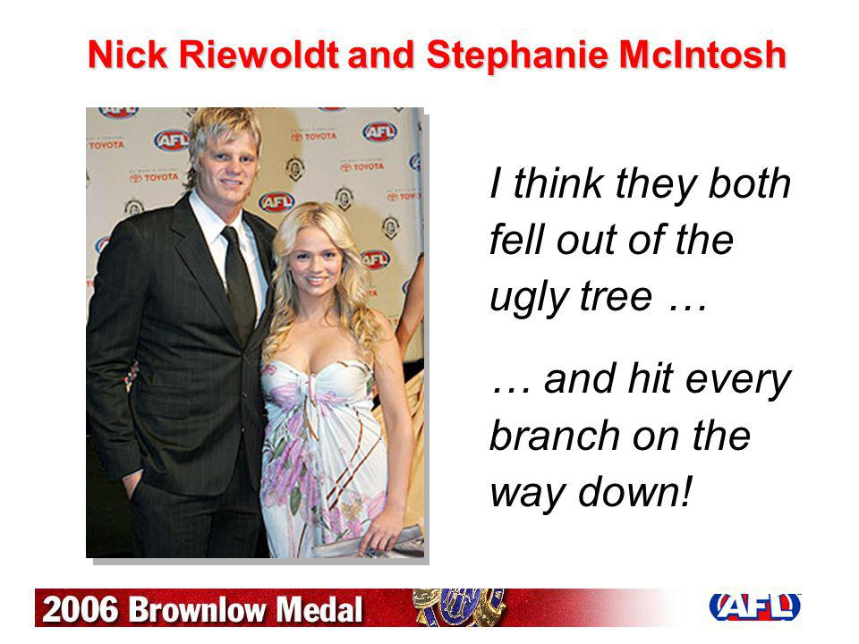 Nick Riewoldt and Stephanie McIntosh