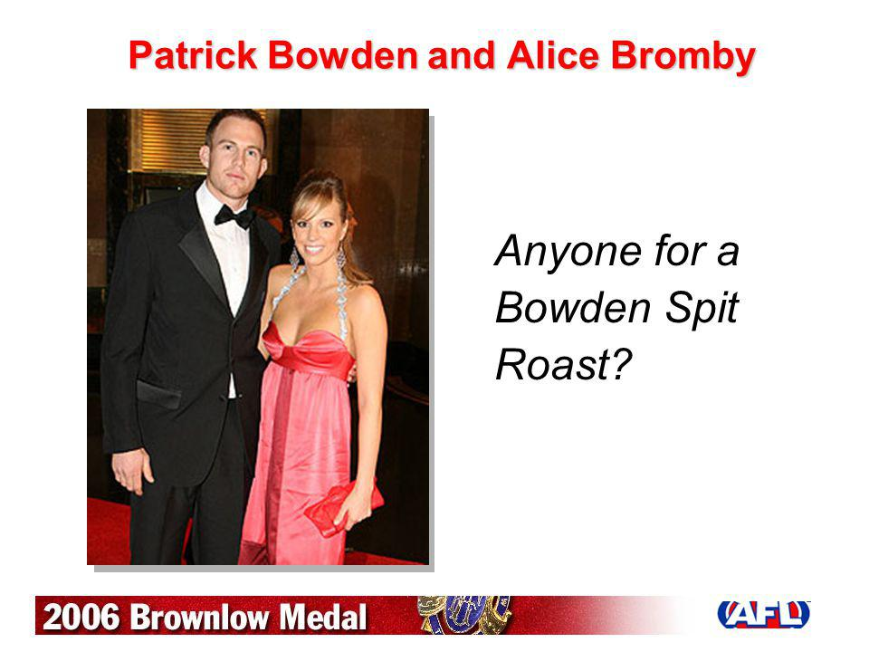 Patrick Bowden and Alice Bromby