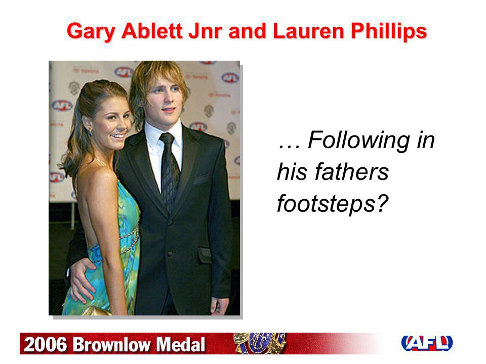 Gary Ablett Jnr and Lauren Phillips