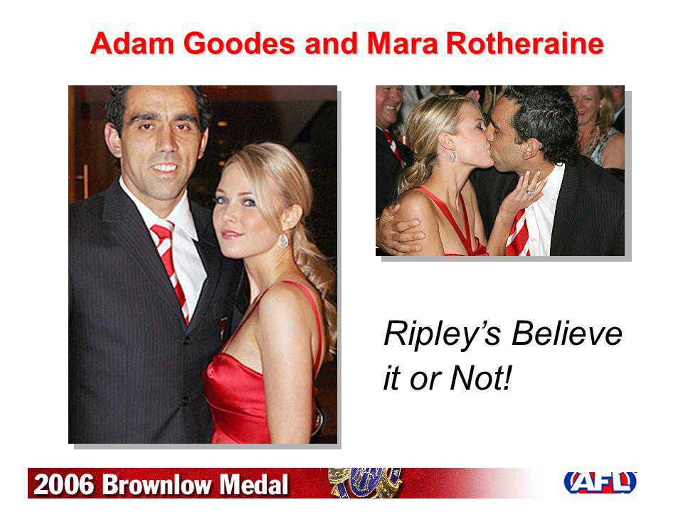 Adam Goodes and Mara Rotheraine
