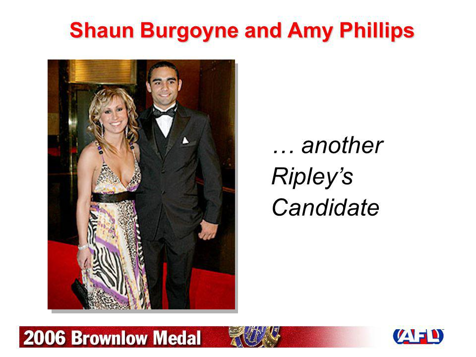 Shaun Burgoyne and Amy Phillips