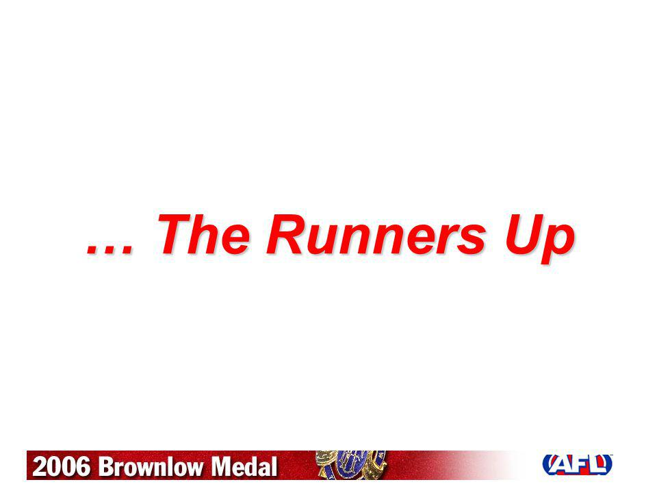 … The Runners Up