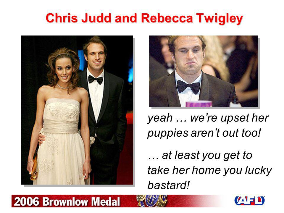 Chris Judd and Rebecca Twigley