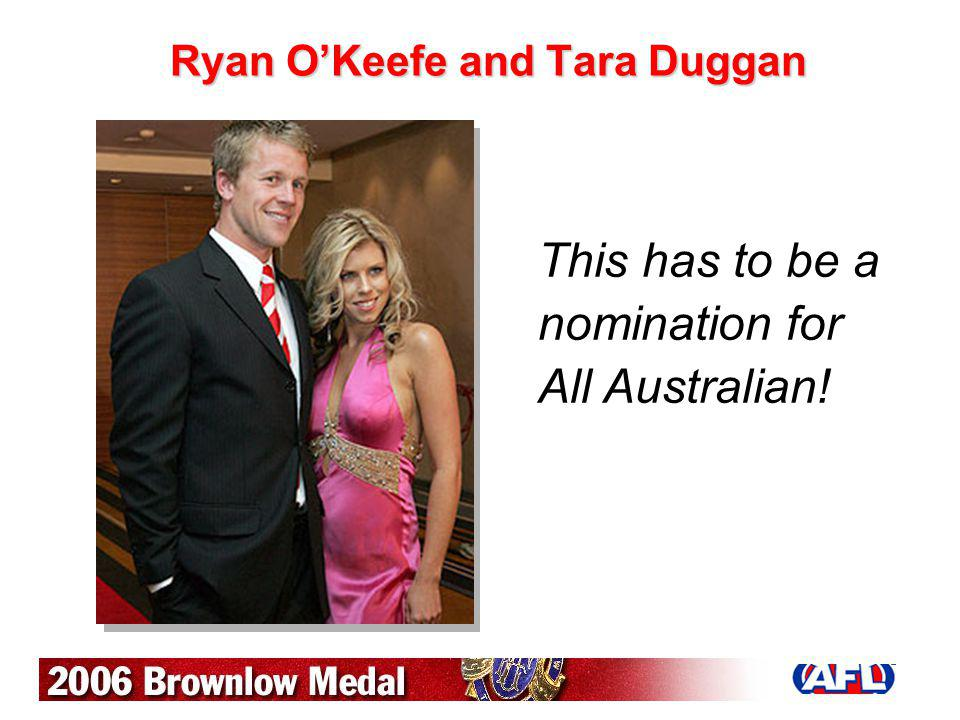 Ryan O'Keefe and Tara Duggan