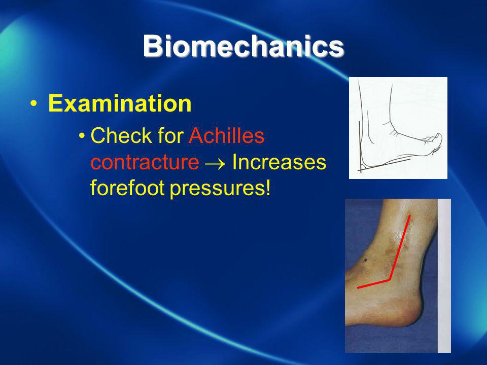Biomechanics Examination