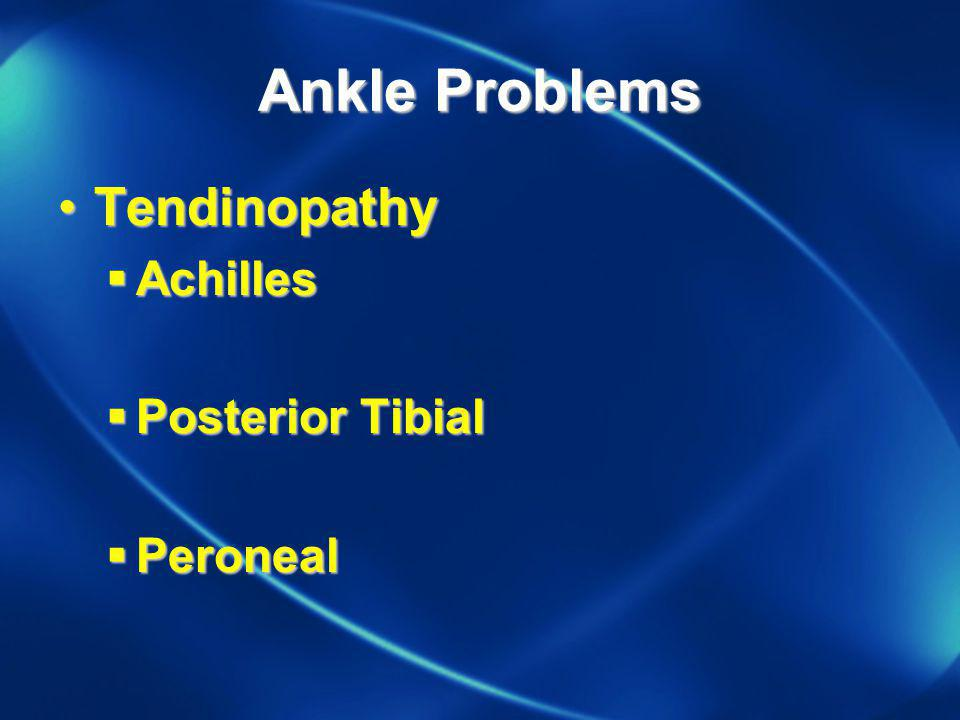Ankle Problems Tendinopathy Achilles Posterior Tibial Peroneal