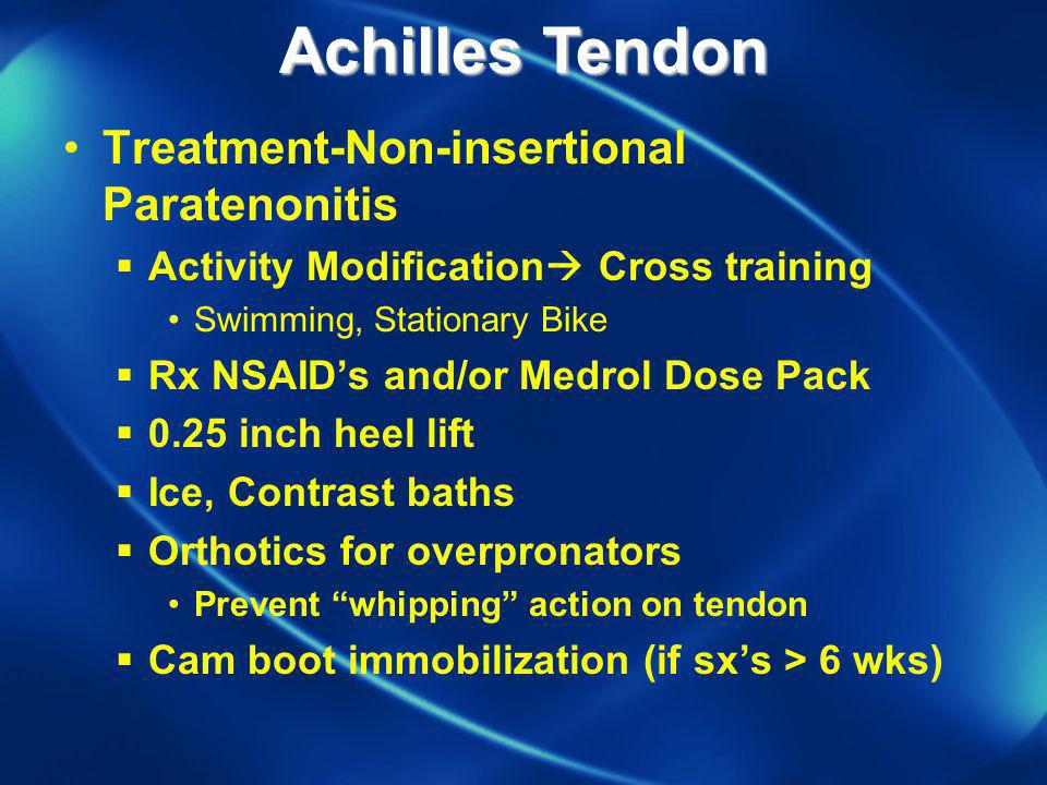 Achilles Tendon Treatment-Non-insertional Paratenonitis