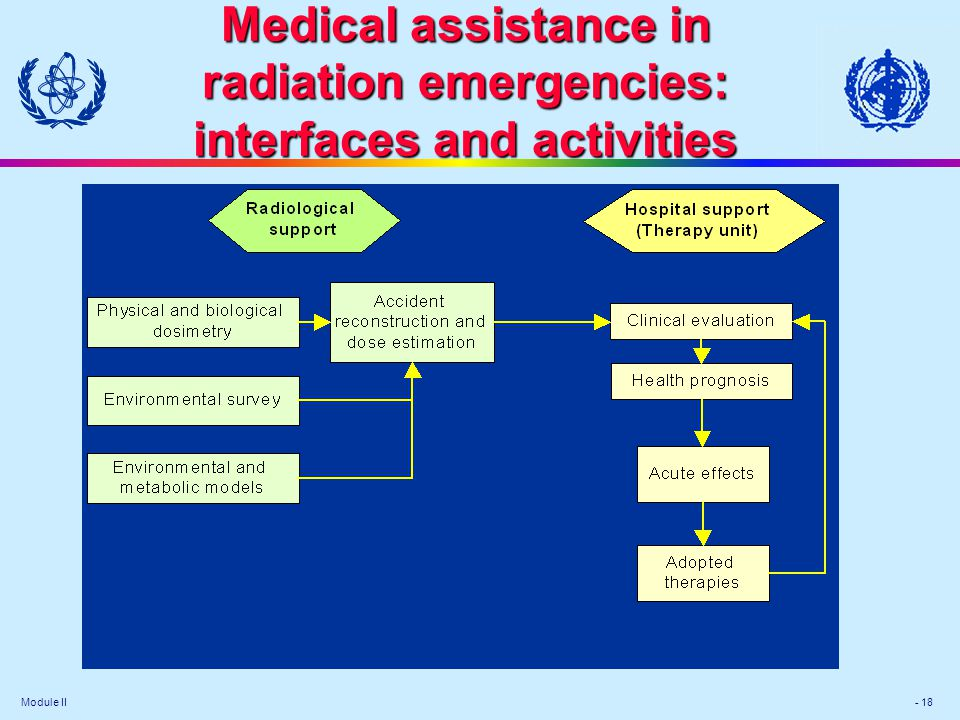 Medical assistance in radiation emergencies: interfaces and activities