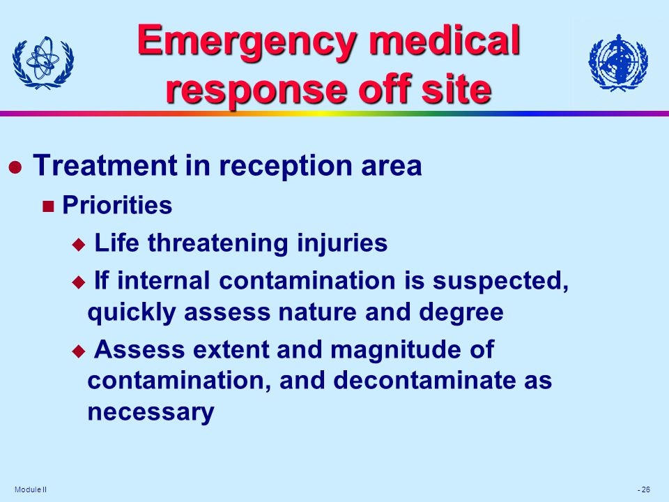 Emergency medical response off site