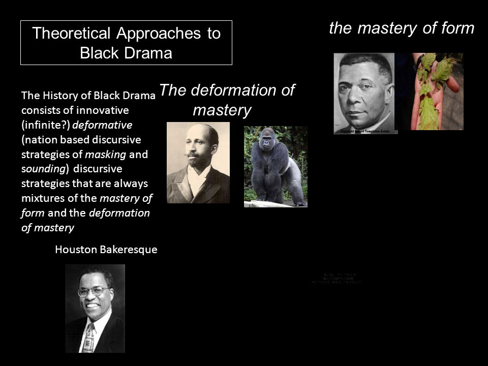 the mastery of form Theoretical Approaches to Black Drama